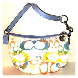 Like New COACH Butterfly Optic Top Handle Pouch